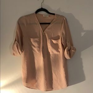 Calvin Klein light pink shirt